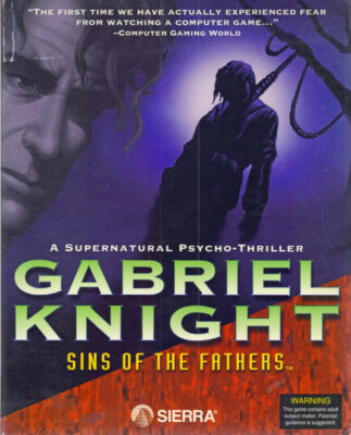 Gabriel Knight Sins of the Fathers DOS Game Box Cover Art
