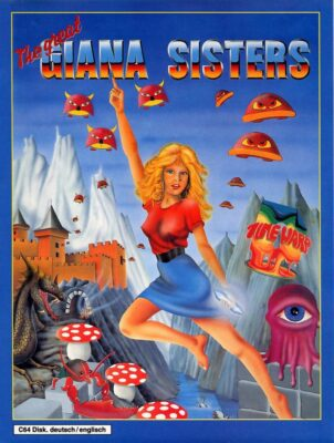 Giana Sisters DOS Game Box Cover Art