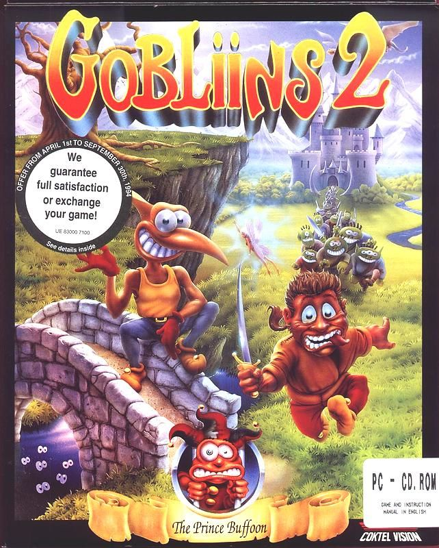 Gobliins 2 The Prince Buffoon DOS Game Box Cover Art