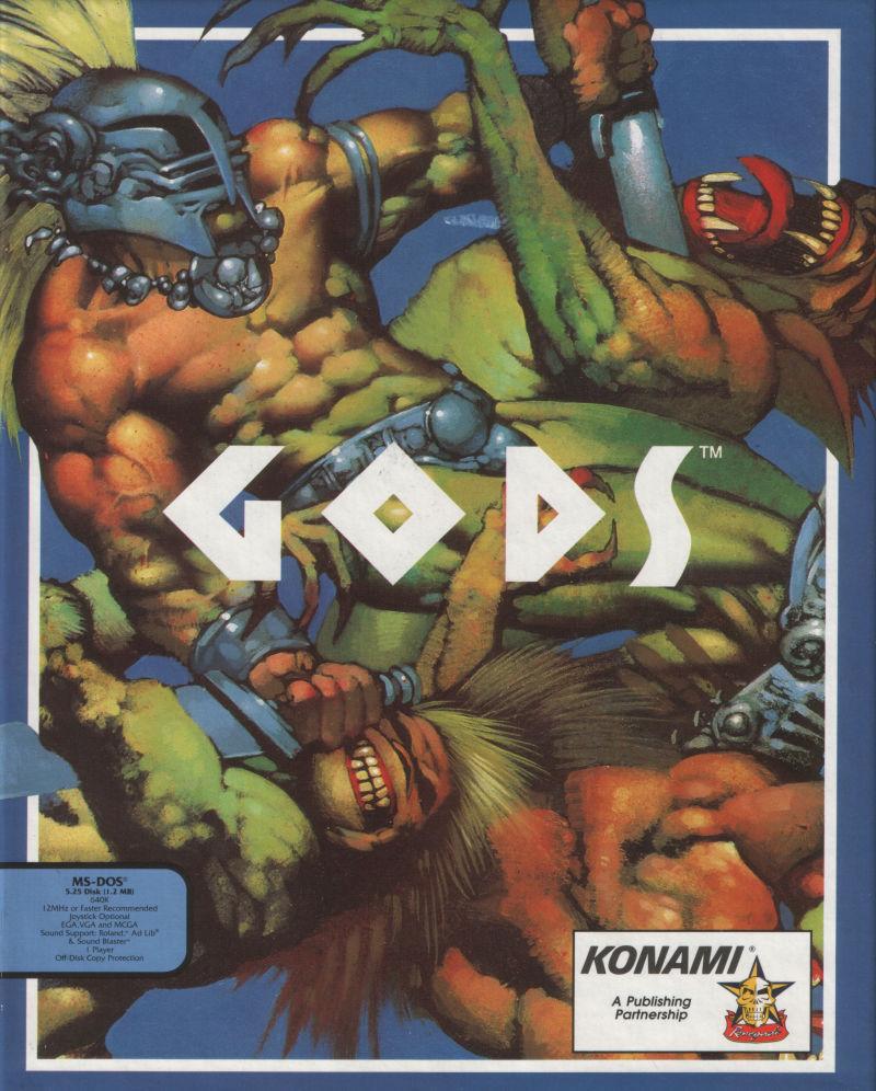 Gods DOS Game Box Cover Art