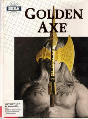 Golden Axe DOS Game Box Cover Art