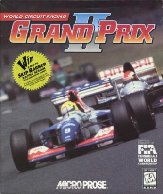 Grand Prix 2 DOS Game Box Cover Art