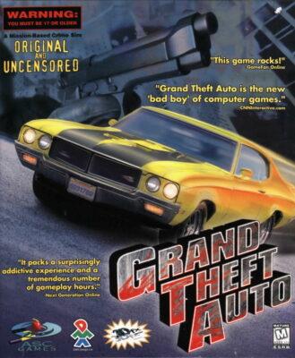 Grand Theft Auto PC Game Box Cover Art