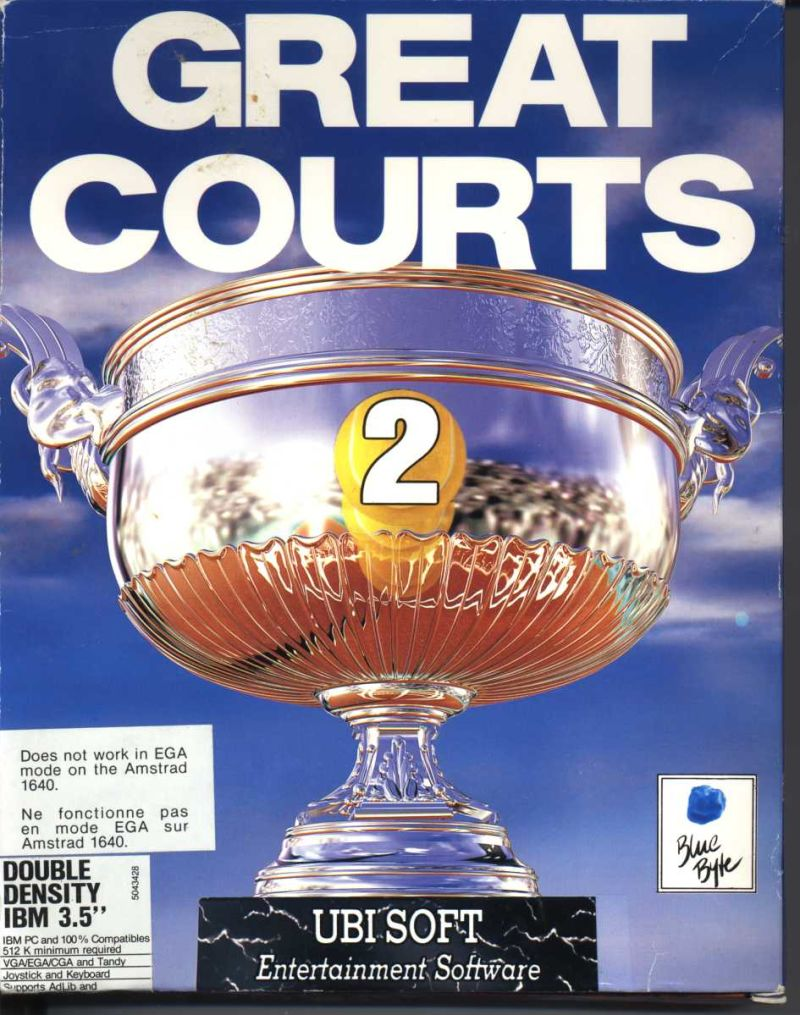 Great Courts 2 DOS Game Box Cover Art