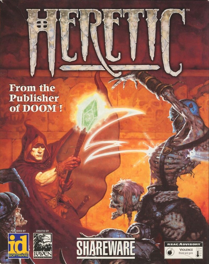 Heretic DOS Game Box Cover Art