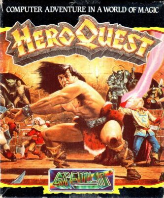 Hero Quest DOS Game Box Cover Art