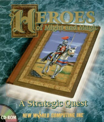 Heroes of Might and Magic DOS Game Box Cover Art
