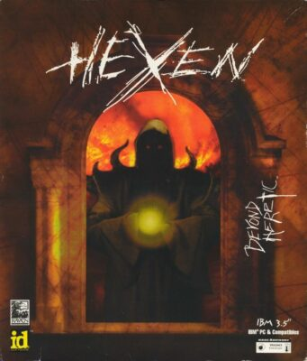 Hexen Beyond Heretic DOS Game Box Cover Art