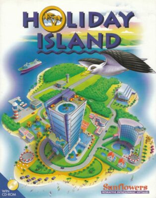 Holiday Island DOS Game Box Cover Art
