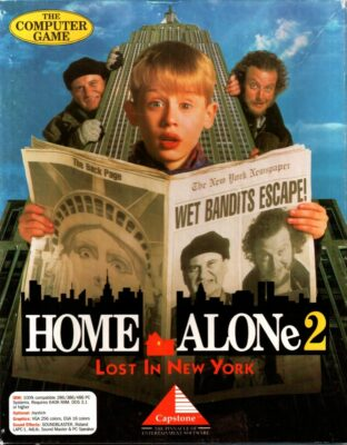 Home Alone 2 Lost in New York DOS Game Box Cover Art