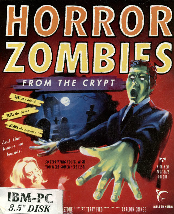 Horror Zombies from the Crypt DOS Game Box Cover Art