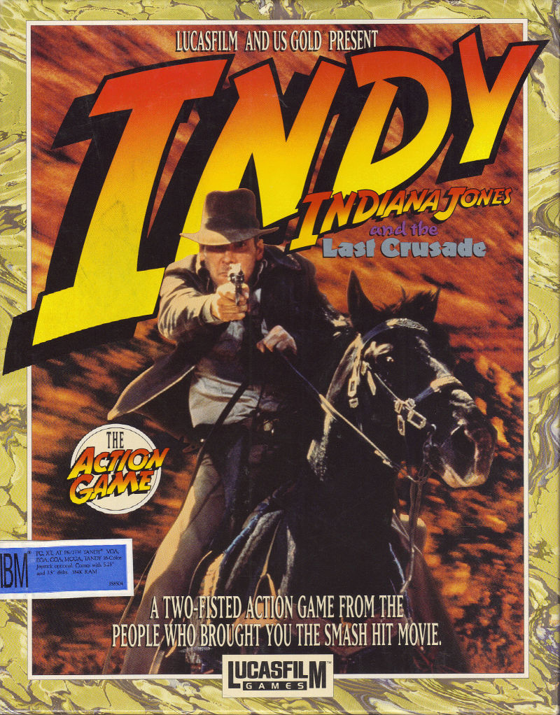 Indiana Jones and the Last Crusade The Action Game DOS Game Box Cover Art