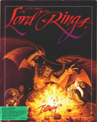 J.R.R. Tolkien's The Lord of the Rings Vol. I DOS Game Box Cover Art