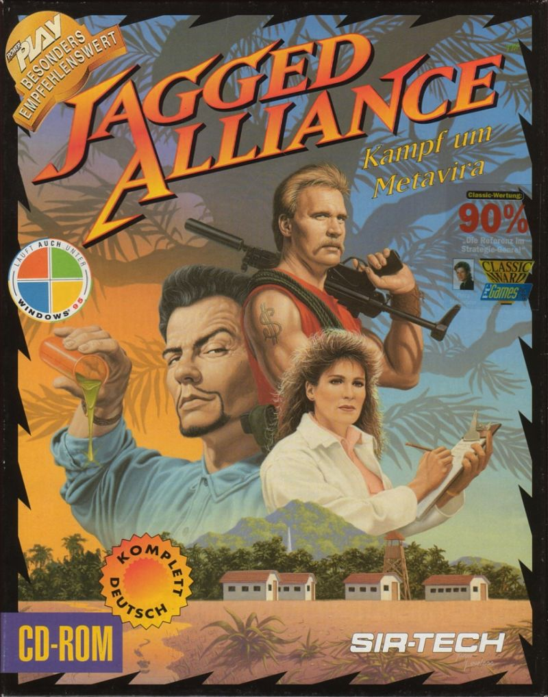 Jagged Alliance DOS Game Box Cover Art