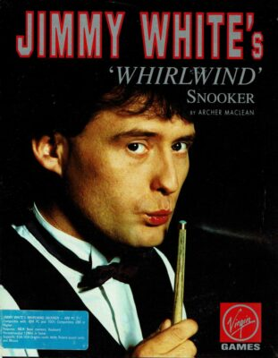 Jimmy Whites Whirlwind Snooker DOS Game Box Cover Art