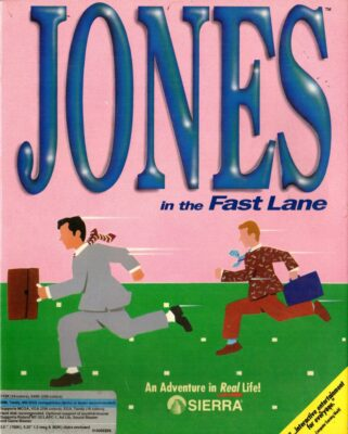 Jones in the Fast Lane DOS Game Box Cover Art