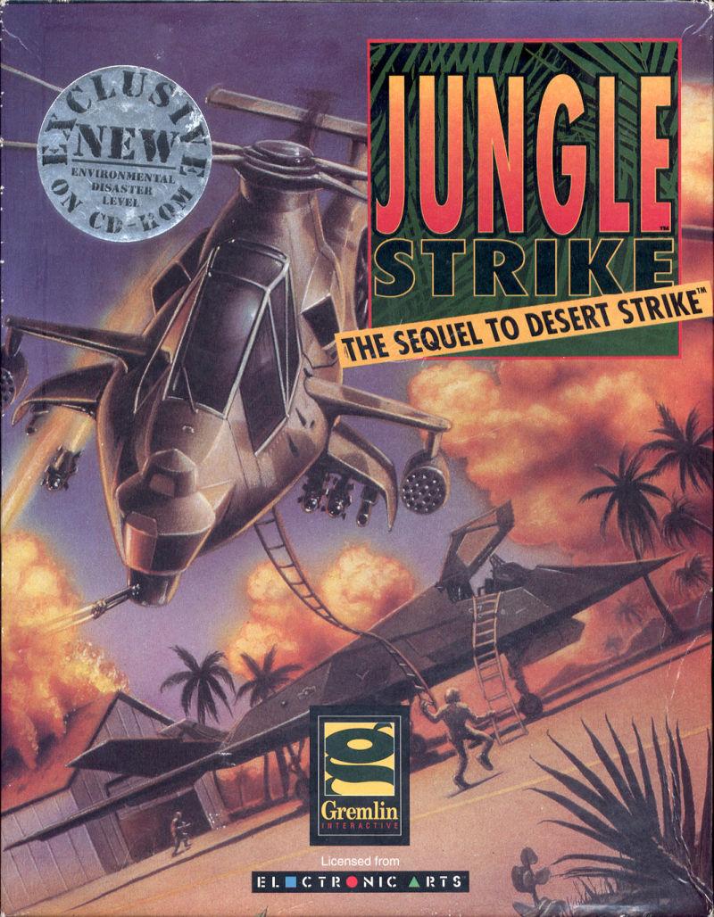 Jungle Strike DOS Game Cover