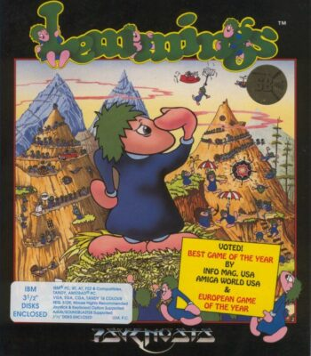 Lemmings DOS Game Cover