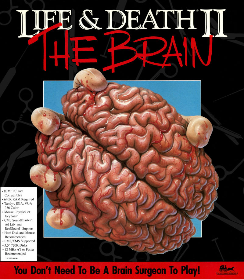 Life and Death 2 The Brain DOS Game Cover
