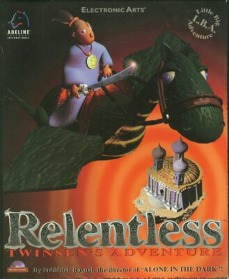 Little Big Adventure Relentless Twinsen's Adventure DOS Game Cover