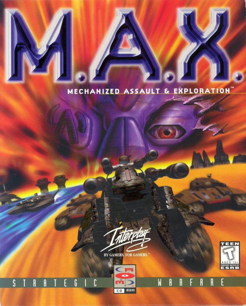 M.A.X. Mechanized Assault Exploration DOS Game Cover