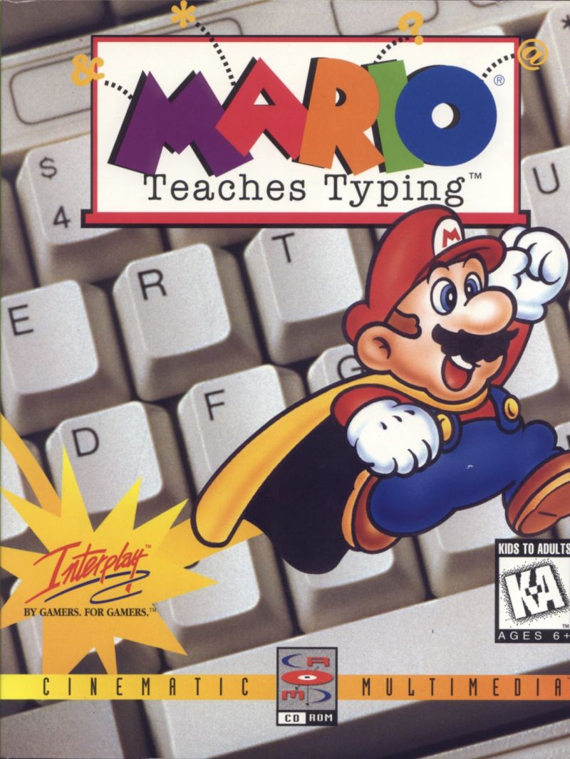 Mario Teaches Typing DOS Game Cover