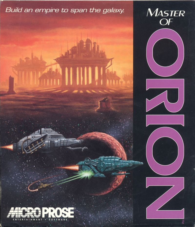 Master of Orion DOS Game Cover