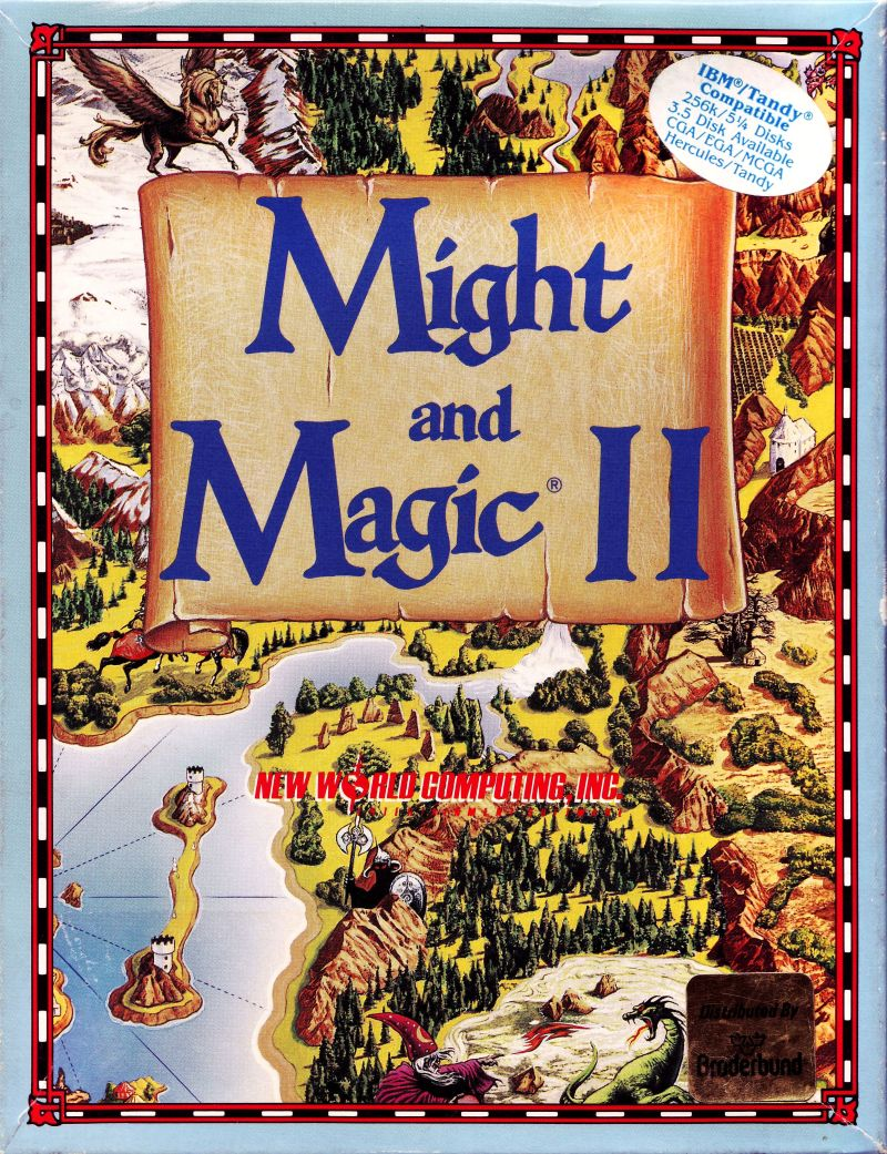 Might and Magic II Gates to Another World DOS Game Cover