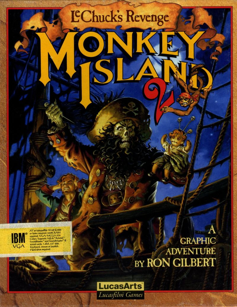 Monkey Island 2 LeChuck's Revenge DOS Game Cover