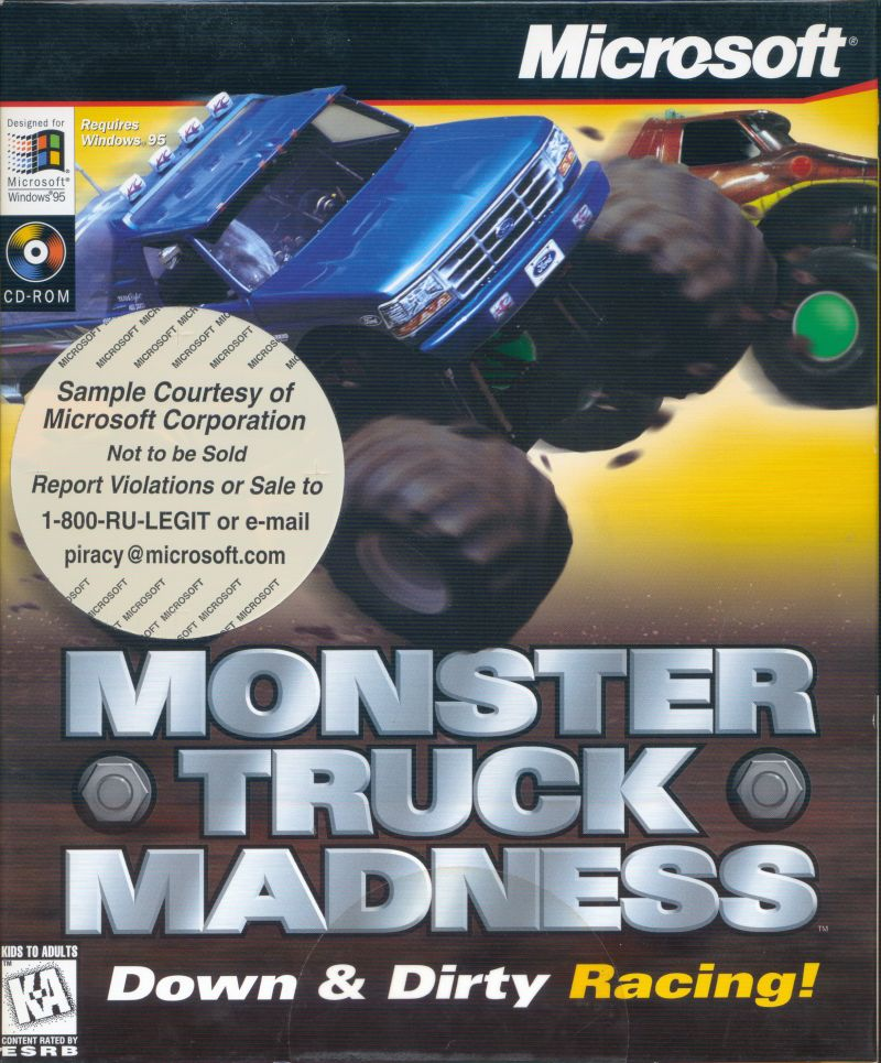 Monster Truck Madness DOS Game Cover