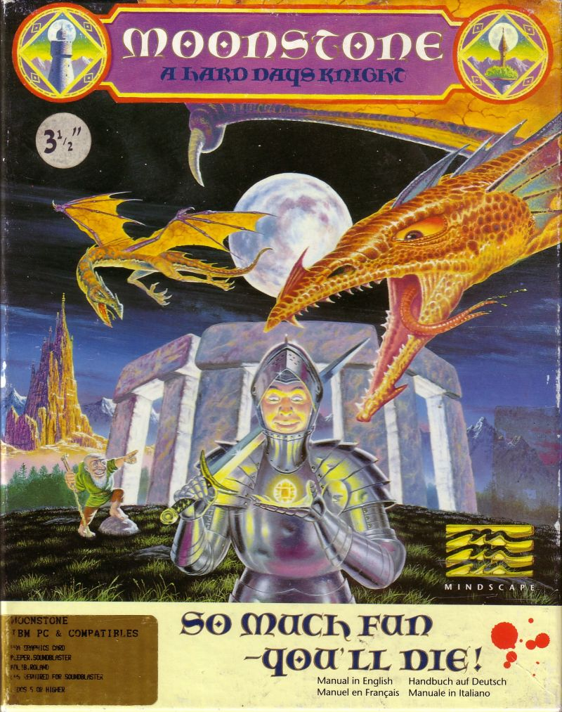 Moonstone A Hard Days Knight DOS Game Cover