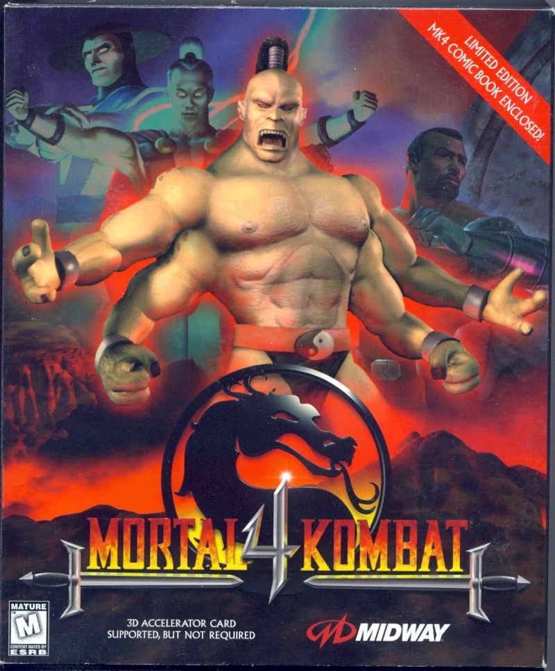 Mortal Kombat 4 DOS Game Cover