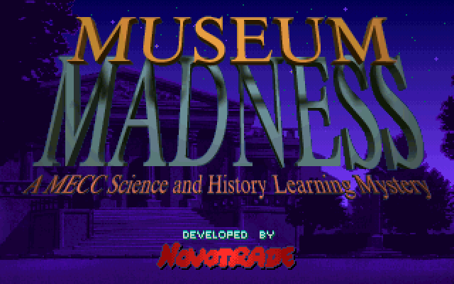 Museum Madness old DOS game
