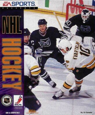 NHL Hockey DOS Game Cover
