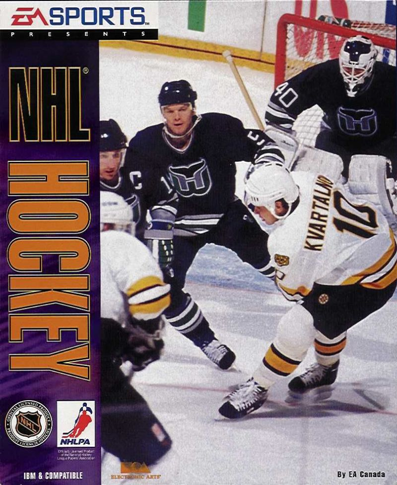 NHL Hockey DOS Game Cover