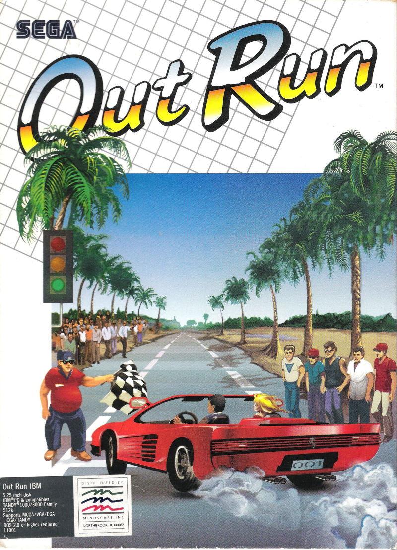 OutRun DOS Game Cover