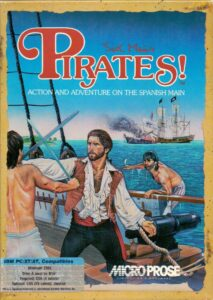 Pirates! (Sid Meier's) old DOS Game Box Cover Art