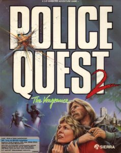 Police Quest 2: The Vengeance old DOS Game Box Cover Art 1988