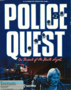 Police Quest: In Pursuit of the Death Angel old DOS Game Box Cover Art 1987