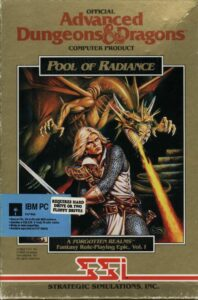 Pool of Radiance old DOS Game Box Cover Art 1988