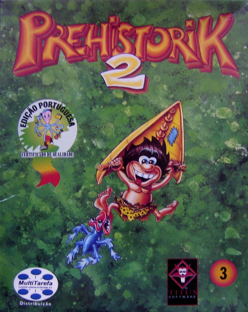 Prehistorik 2 old DOS game cover