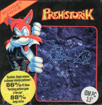 Prehistorik old DOS game cover