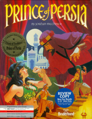 Prince of Persia DOS Game Cover