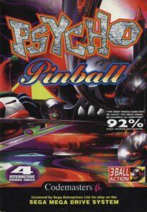 Psycho Pinball old DOS Game Box Cover Art 1995