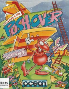 Pushover old DOS Game Box Cover Art