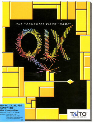 QIX DOS Game Cover