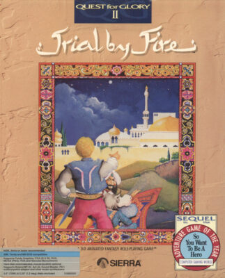 Quest for Glory II Trial by Fire DOS Game Cover
