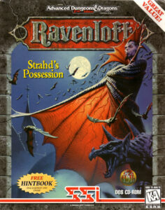 Ravenloft: Strahd's Possession old DOS Game Box Cover Art