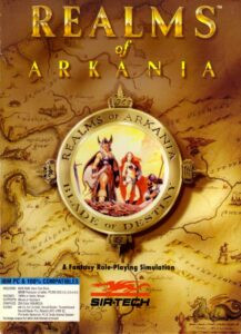 Realms of Arkania: Blade of Destiny old DOS Game Box Cover Art 1992