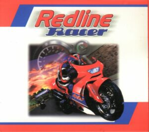 Redline Racer old Racing Game Box Cover Art